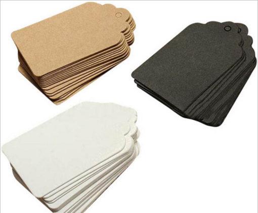 Custom blank Kraft / black jewelry packing card folded paper package card for hair ornaments display