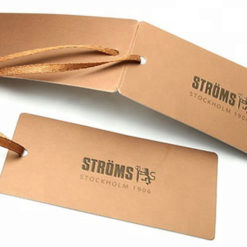 custom logo printing brown kraft paper card for earring jewelry hanging