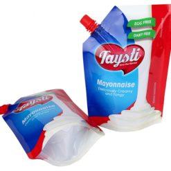 Liquid Spout Doypack Pouch Aluminum Foil Stand Up Bag Spout Pouches With Cap