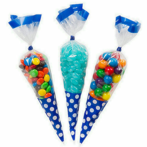 Clear Triangle Plastic Party cone shaped candy bag