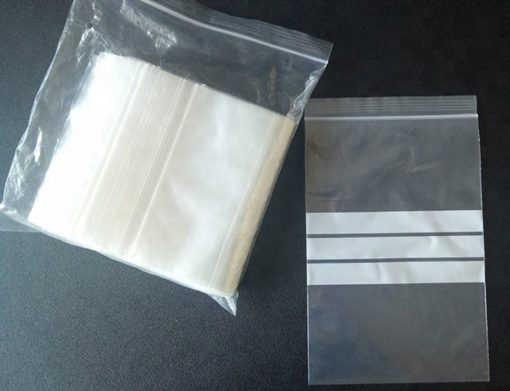 custom plastic grip seal clear ziplock packing bag
