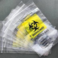 100% biohazard specimen bag/Lab use medical grade ziplock bag/Biohazard kangaroo specimen bag